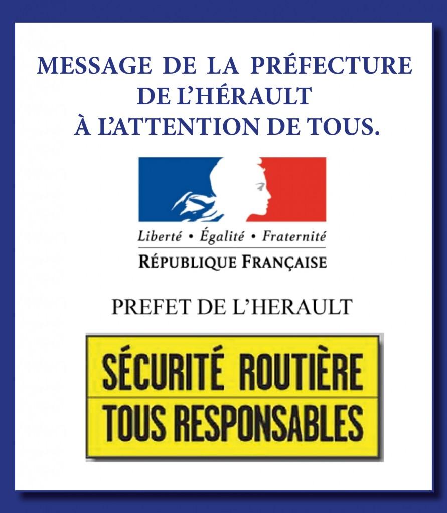 Message Préfecture Sécurité Routière