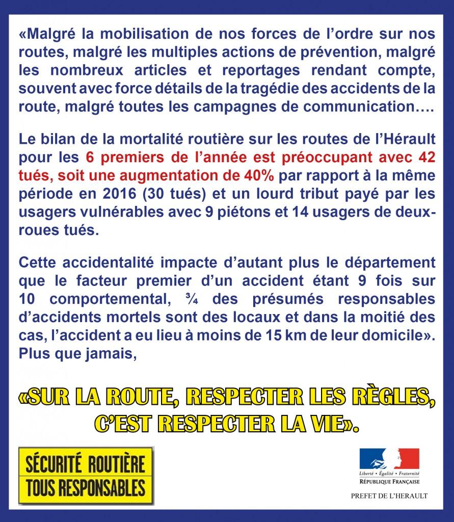 Message Préfecture Sécurité Routière2