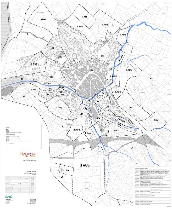 zonage urbanise