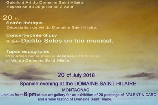 Domaine St Hilaire 20 juinnet