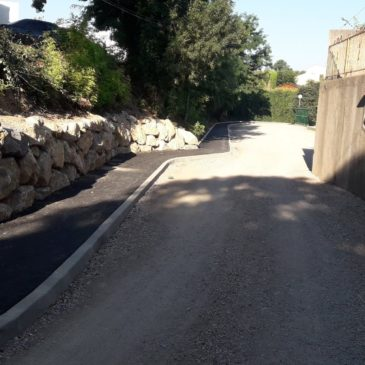 Travaux d'embellissement et de sécurisation du village