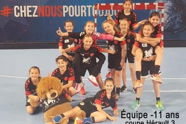Equipe moins de 11 Filles Coupe hérault 3
