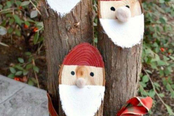 Pères Noel en Bois